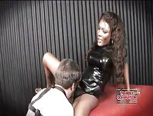 Leather shemale mistress hardcore