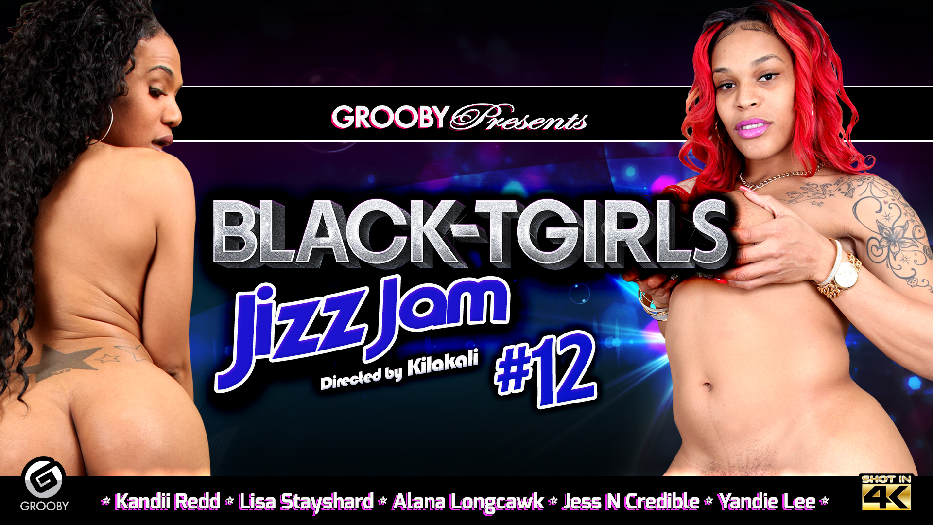 Black Tgirls JizzJam 12 DVD Trailer