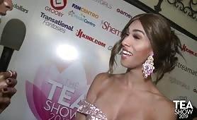 TEA2019 TrannyStrip Layla James RedCarpet