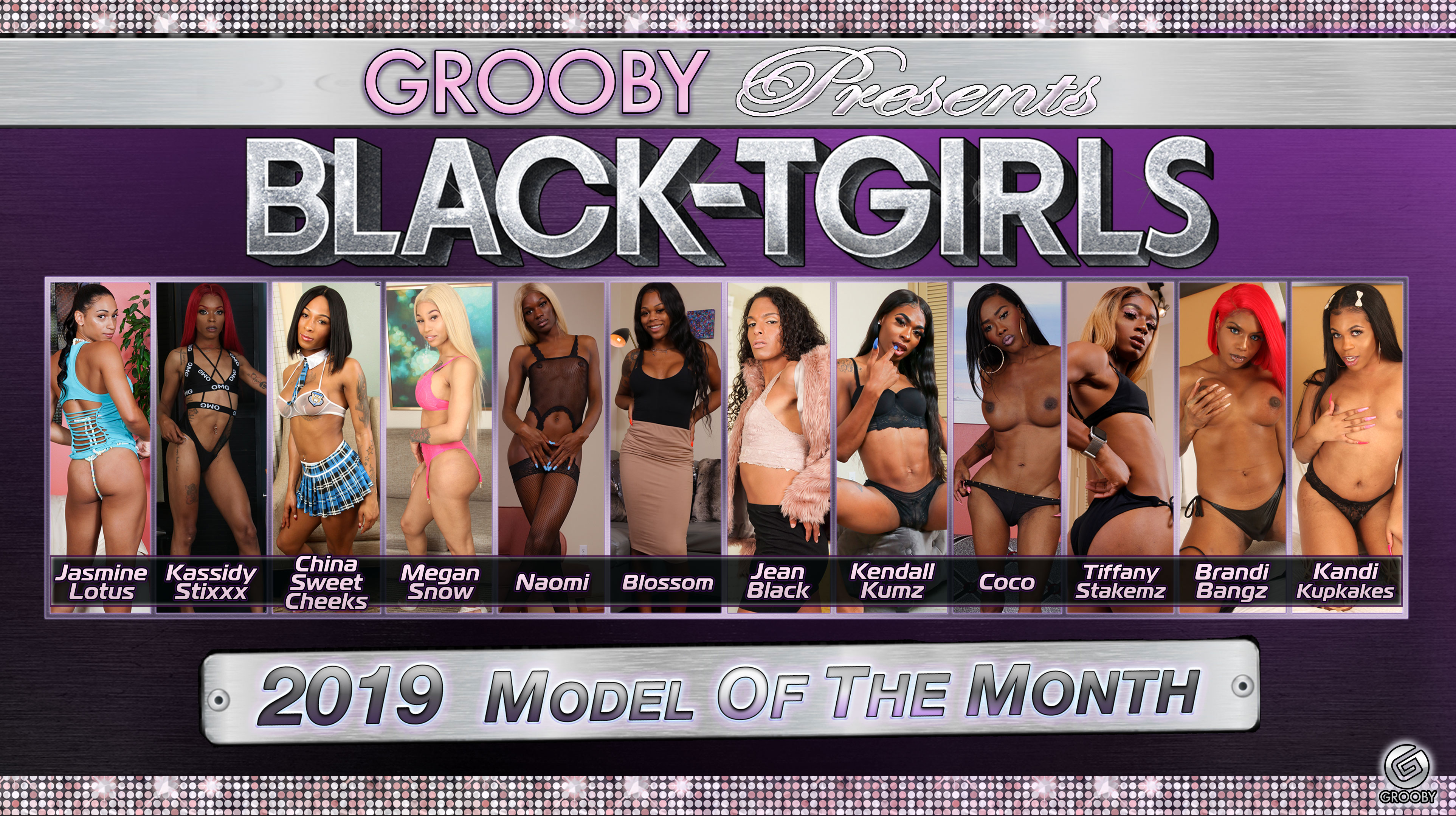 Black-Tgirls 2019 Model of the Month DVD Trailer