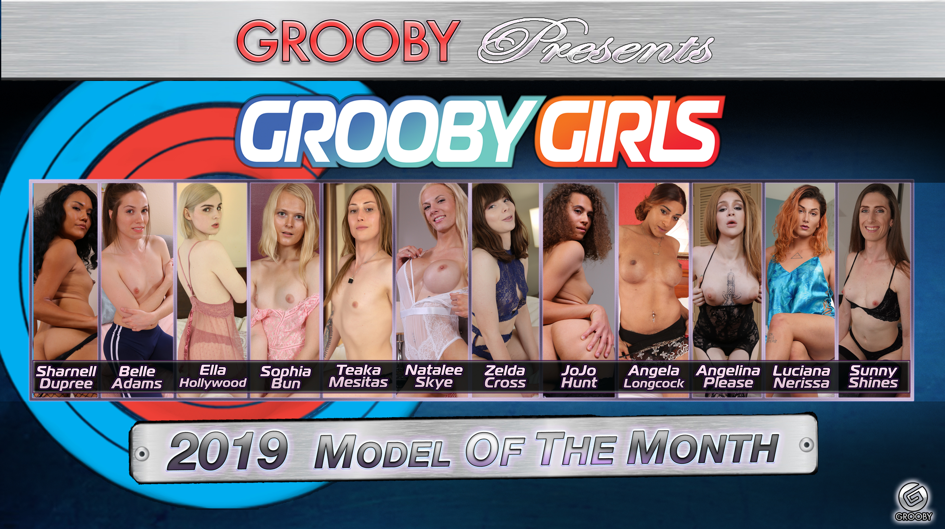GroobyGirls 2019 Model of the Month DVD Trailer